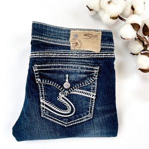 BNWOT Berkeley Flap Silver Jeans